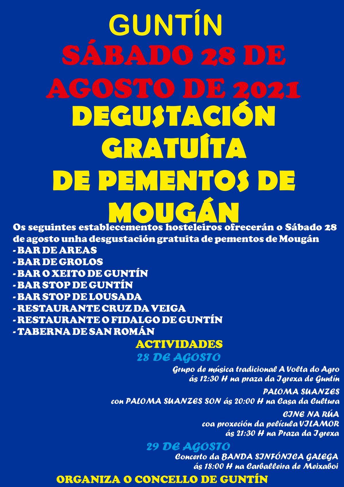 SÁBADO 28: DEGUSTACIÓN GRATUÍTA DE PEMENTOS DE MOUGÁN